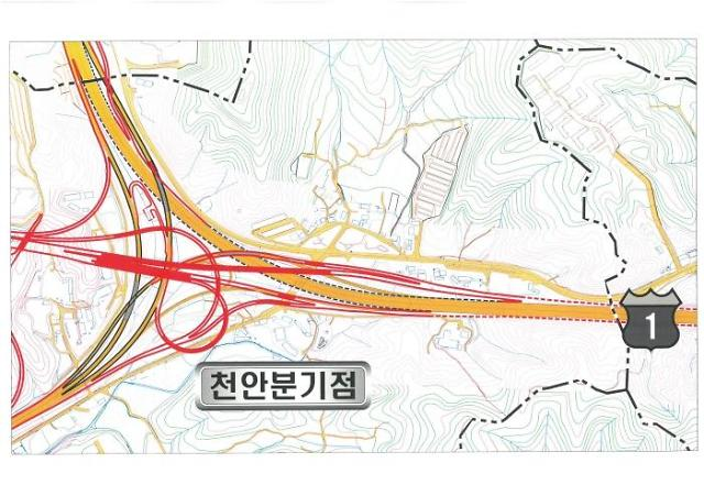 천안분기점, 서울→논산방향 램프 22일 교통제한