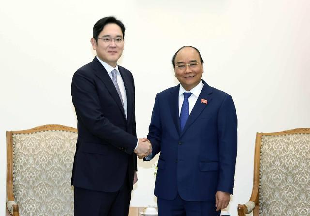 베트남 총리-이재용 부회장 면담...관련 협력방안 논의