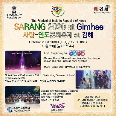 김해시, 사랑-인도문화축제 연계 김해의 날 개최