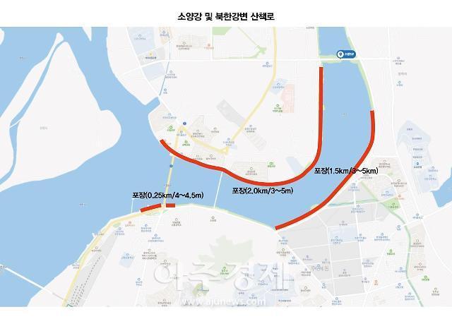 춘천시, 시민 건강 고취를 위한 '하천 수변산책로 조성' 추진