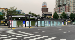 .Seoul builds futuristic public bus stops installed with various convenience facilities.
