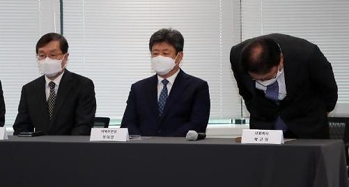 [포토] 사과문 발표하는 박근희 CJ대한통운 대표이사