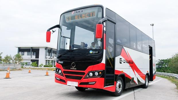 [NNA] 印尼 국영 철도차량 INKA, 전동버스 시행주행