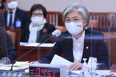 """[2020 국감] 이수혁 한·미 동맹 평가절하 논란에...강경화 """"필요한 조치 중"""""""