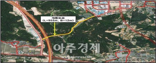 속초시, 대포 농공단지~떡밭재 연결도로 개설완료