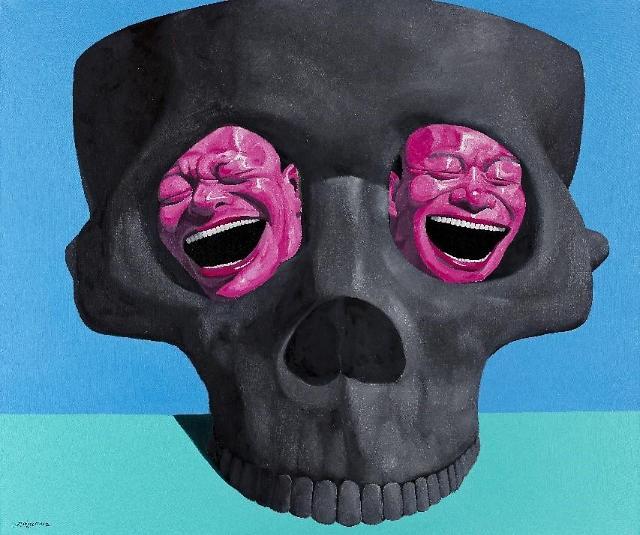 중국 현대미술 거장 유에민쥔이 전하는 '다른 웃음'