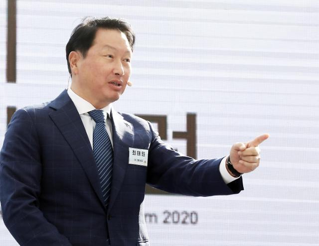 """""""최태원 ESG경영 가속화""""…SK그룹 8개사, RE100 한국 최초 가입"""
