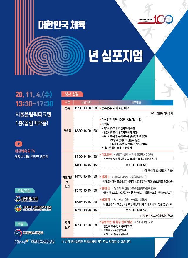 대한체육회·한국체육학회, 대한민국 체육 100년 심포지엄 개최