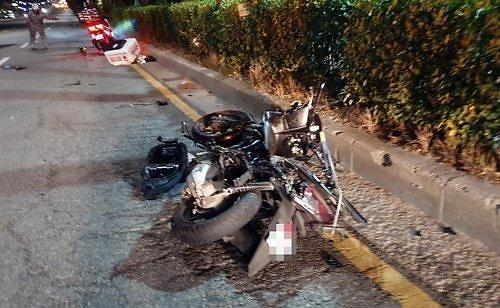 또..또..또..음주운전 차량에 다리 잃은 오토바이 배달 운전자