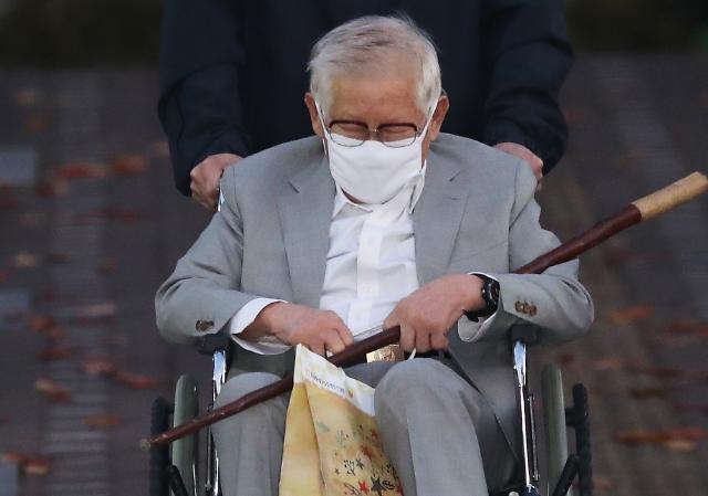 [포토] 보석으로 석방되는 신천지 이만희 총회장