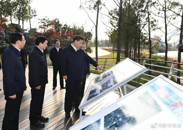 중국 시진핑 주석, 장쑤성서 新발전 이념 강조