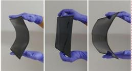 .Researchers demonstrate roll-to-roll manufacturing of flexible perovskite solar cells.