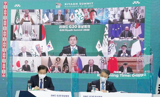 文대통령, G20 정상회의서 韓 코로나 방역 성과 '세일즈'(종합)