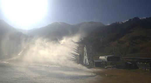 滑雪场准备开门迎客