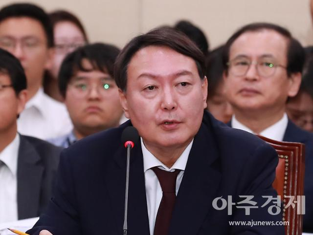 """장모 기소된 날 윤석열 """"편법 원인 재해사건 강도높게 대응해야"""""""