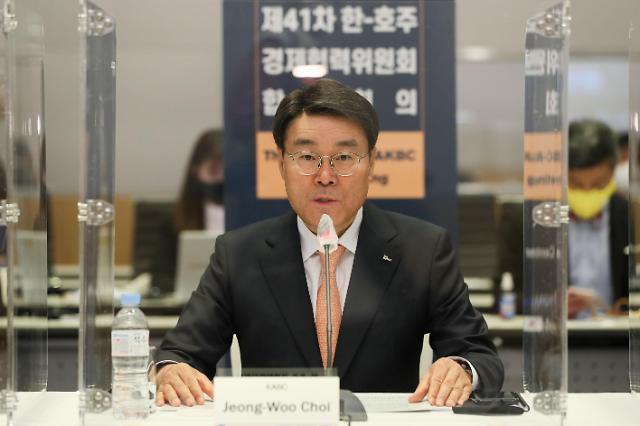 """한국·호주, 수소·바이오 분야서 협력...최정우 """"장기적 발전 방안 모색"""""""