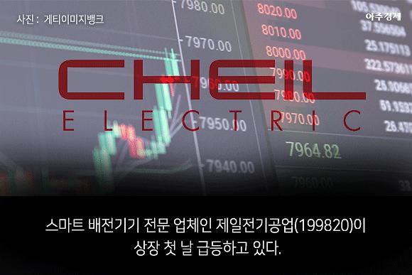 [슬라이드 뉴스] 공모가 대비 2배 제일전기공업 장 초반 급등... 36000원↑