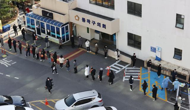 韩国新增583例新冠确诊病例