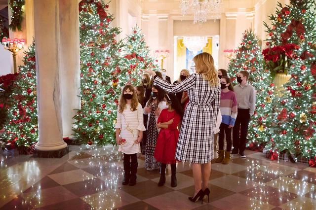 [포토] 트럼프 정권의 마지막 성탄절, 백악관 크리스마스 장식 공개