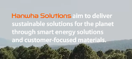 . Hanwha Solutions jumps into green energy project to produce hydrogen using wind power generation.