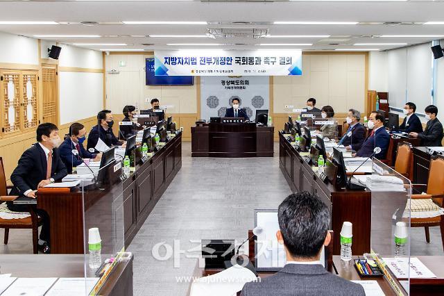 경북도의회 예결특위, 2021년도 당초예산안 심사 돌입
