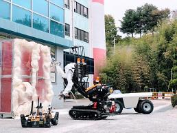 .Researchers establish unmanned radioactive disaster control system using robots.