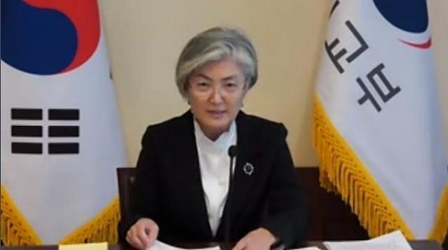 """6자회담 복귀에 선 그은 강경화...""""북한 원하는 것, 미국만 제공할 수 있어"""""""