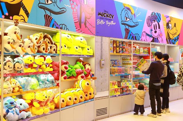"""""""디즈니 굿즈가 한자리에""""…HDC아이파크몰, 디즈니 프렌즈샵 오픈"""