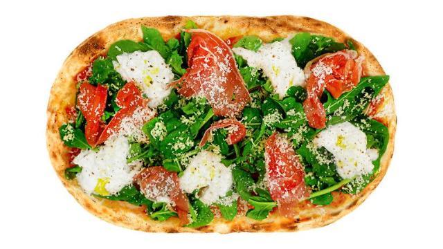 [고피자가 판매하는 부라타 치즈 피자. 1인용 화덕 피자로, 타원형이다. 스파게티와 음료를 함께 주문해도 1만원 초반대 가격에 먹을 수 있다. (사진=고피자 홈페이지)]