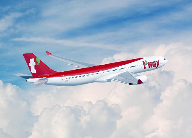 """티웨이, 중대형 항공기 A330-300 도입…""""호주·하와이 등 중장거리 도시 취항"""""""