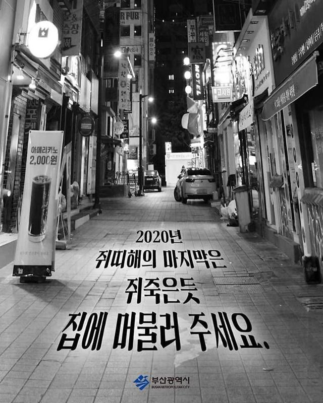 """수위 높아지는 공공 캠페인, 부산시 """"쥐 죽은 듯 집에 머물러라"""" 비난↑"""