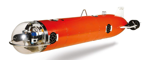 Unmanned underwater mine disposal system deployed for naval operations