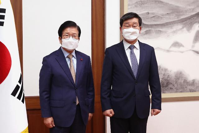 박 의장, 전해철·권덕철 신임 장관 예방 받아