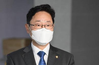 [속보] 박범계, 서울고검 사무실 첫 출근...尹 관계 청문회장에서 입장