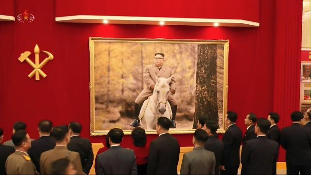 朝鲜电视台公开劳动党八大开幕现场画面