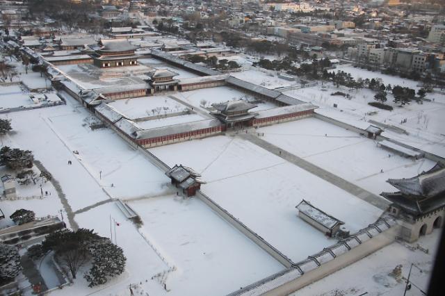 大雪覆盖的景福宫
