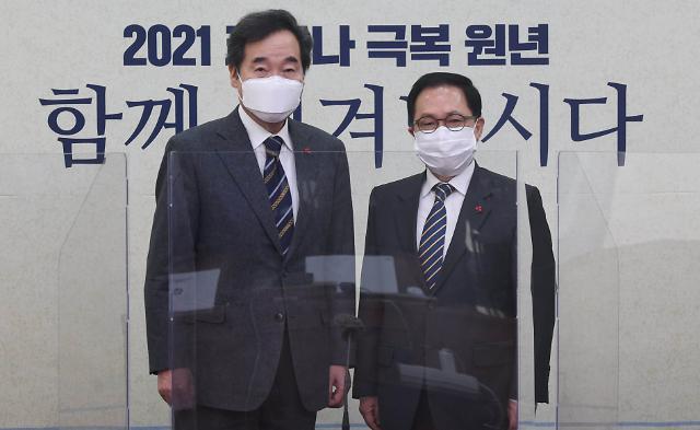 """유영민, 이낙연·김태년 예방...""""국정에 든든한 힘"""""""