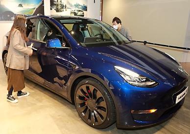 테슬라, 전기 SUV 모델Y 국내서 첫 공개