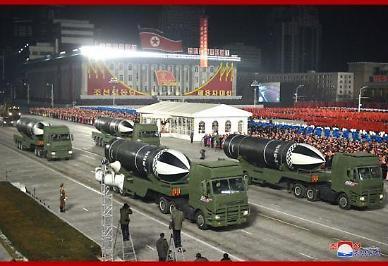 [속보] 북한, 열병식서 신형 추정 북극성-5형 공개