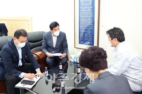 """김상돈 시장 """"기업 경쟁력 강화하도록 다양한 경제 안전망 구축할 것"""""""
