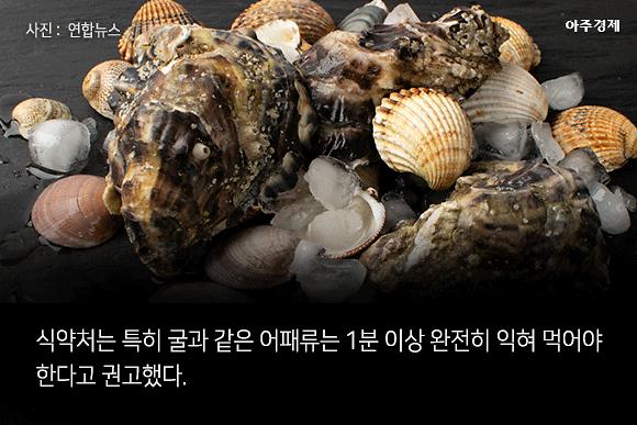 거제·통영·완도 등 남부해역 8곳서 굴 노로바이러스 확인