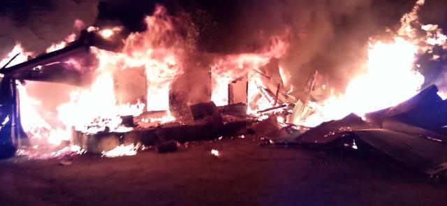 강원도 양양 목조주택서 화재…인명피해는 없어