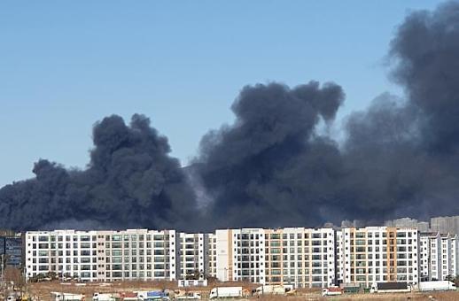 蔚山一处工厂发生大火