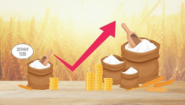 국제 밀 가격 2014년 이후 최고점 돌파