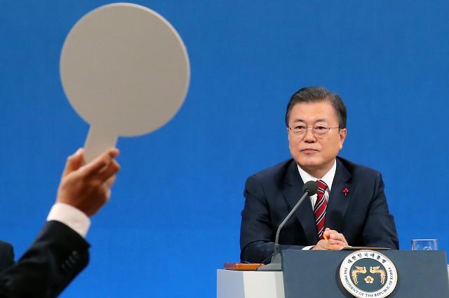 """[文대통령 신년회견] 임기말 한반도 정책 성과 총력 의지…""""金, 비핵화 의지 있다"""""""