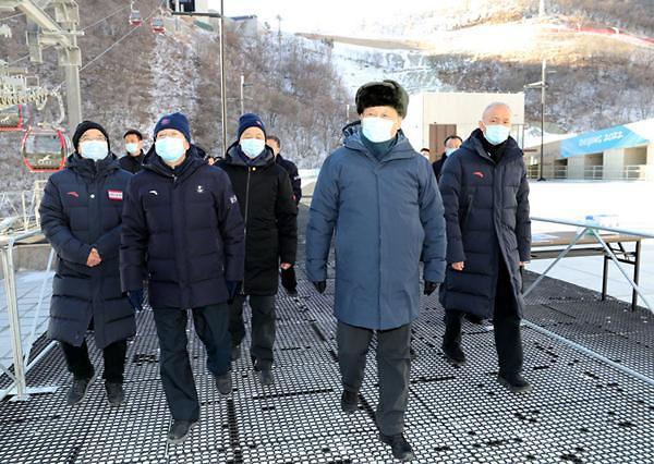 中시진핑, 베이징 동계올림픽 현장 시찰