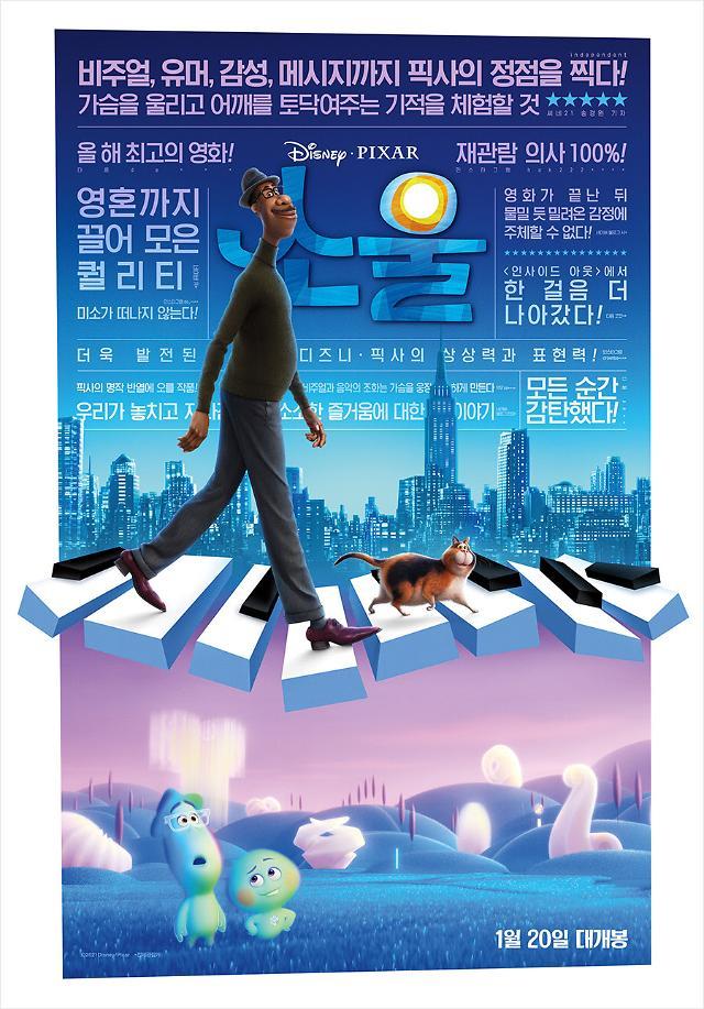 일일 관객 3주째 1만명대…오늘(20일) 소울 개봉