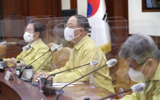 """홍남기 """"올해 코로나 피해 등 500조 정책금융 지원"""""""