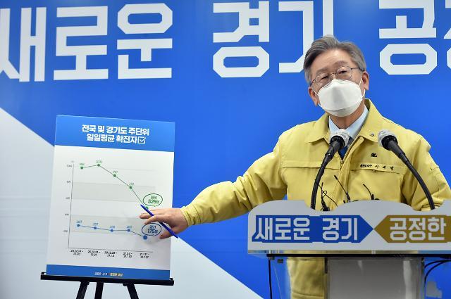 [포토] 2차 경기도 재난기본소득 지급안 밝히는 이재명