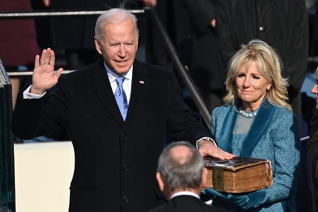 [포토] 취임 선서하는 조 바이든 미국 대통령